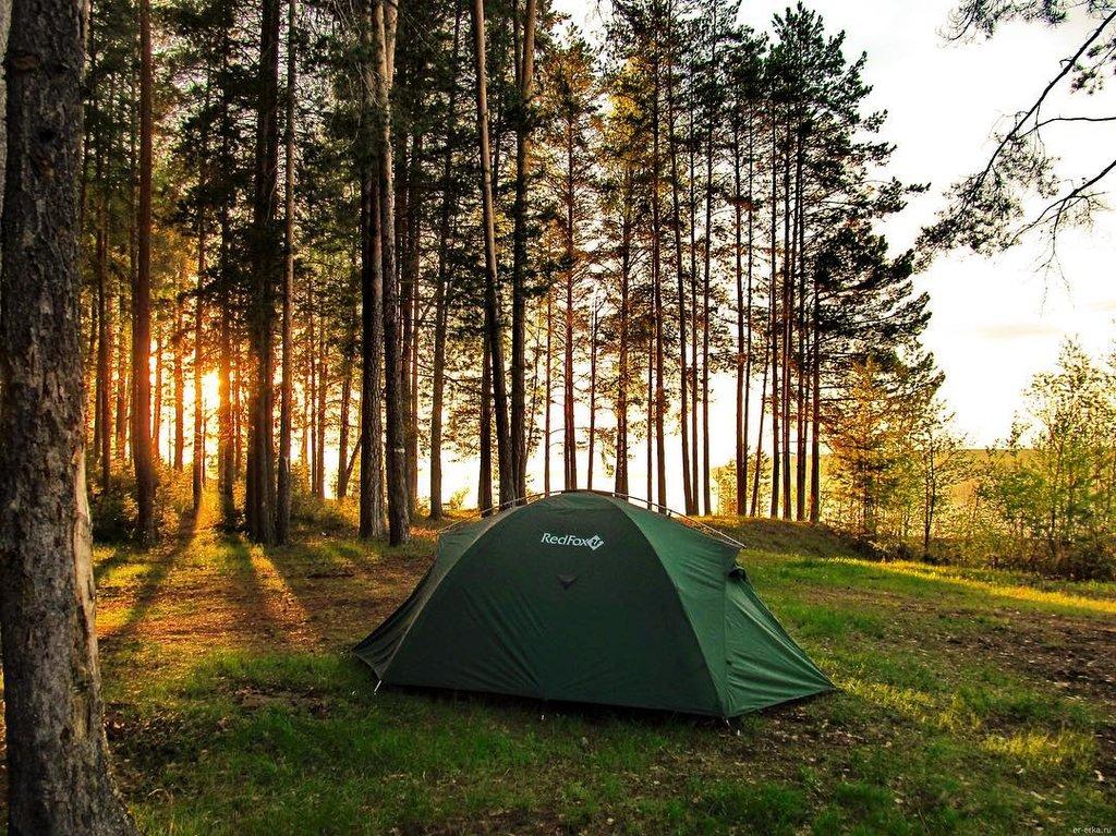 Аренда места для палатки на турбазе Ульяновск